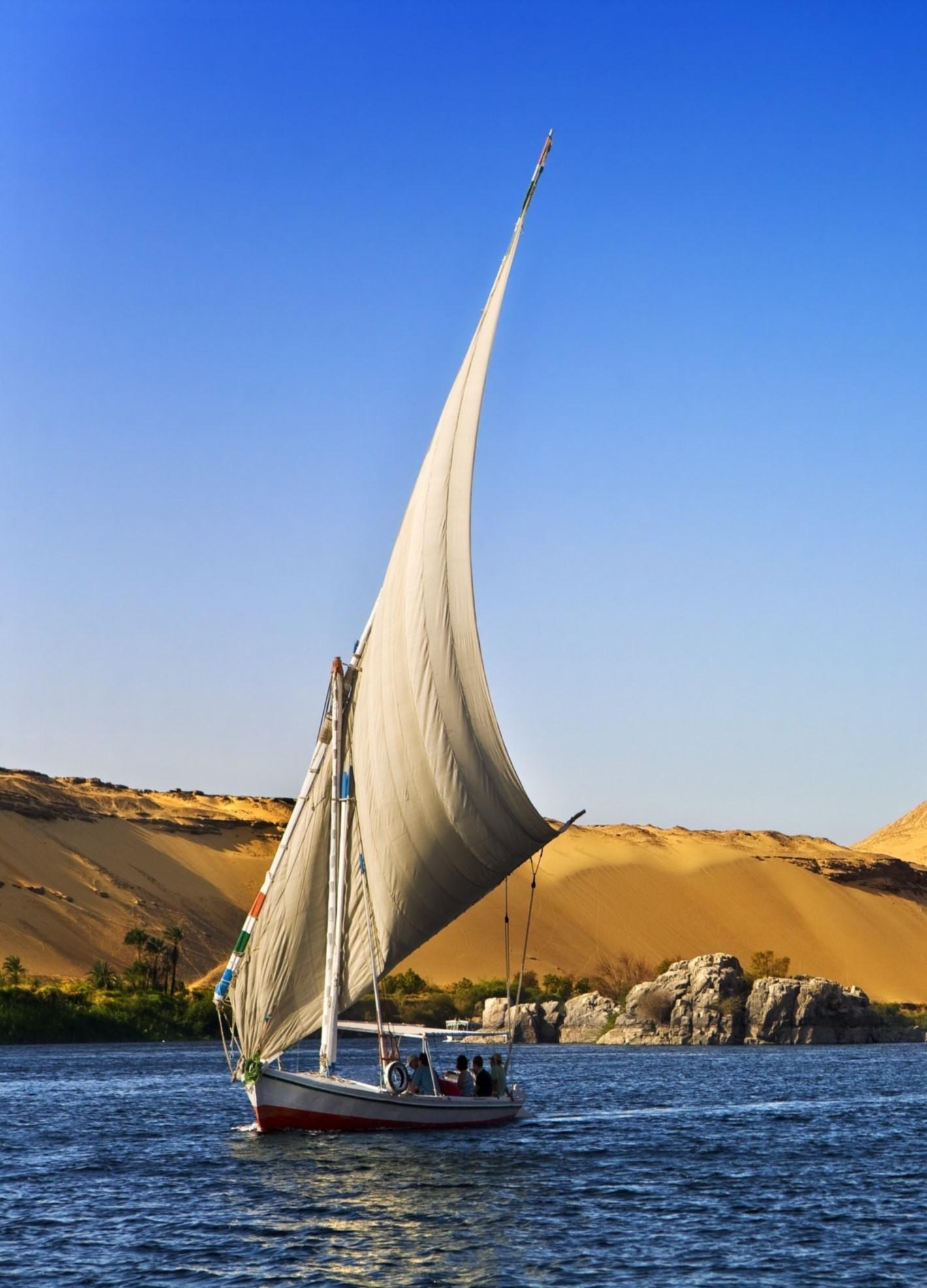Nil Feluke 1420-1973 Luxor local guide Marsa Alam Ausflug